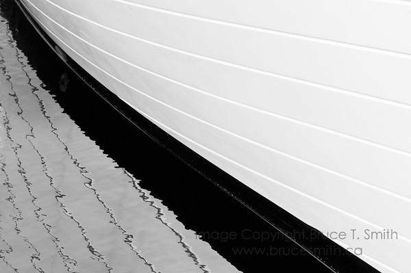 Abstract boat hull reflection