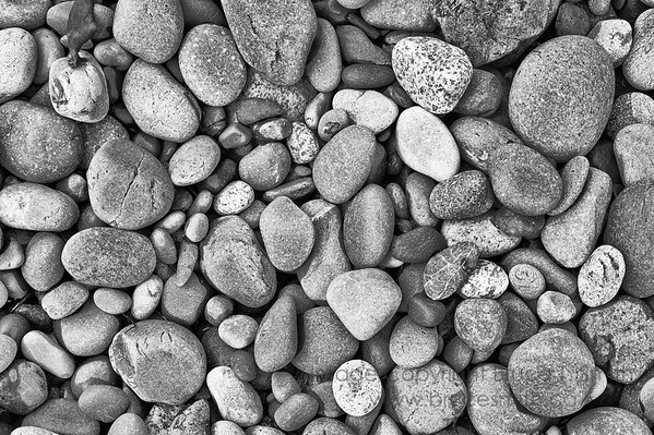 Beach stones - monochrome
