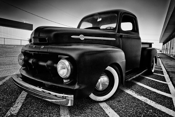Old Ford truck - monochrome