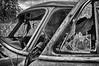 Old abandoned Ford Customline sedan