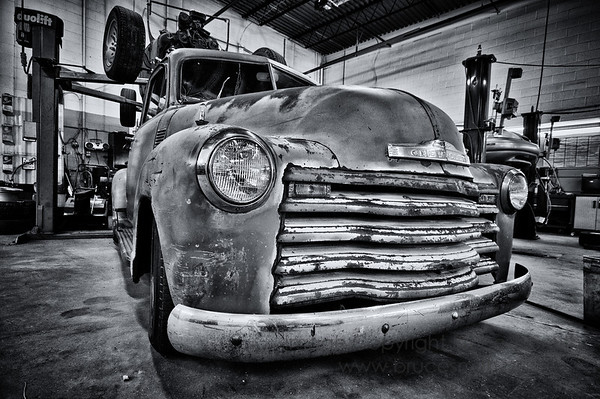 Old Chevy Truck in the shop