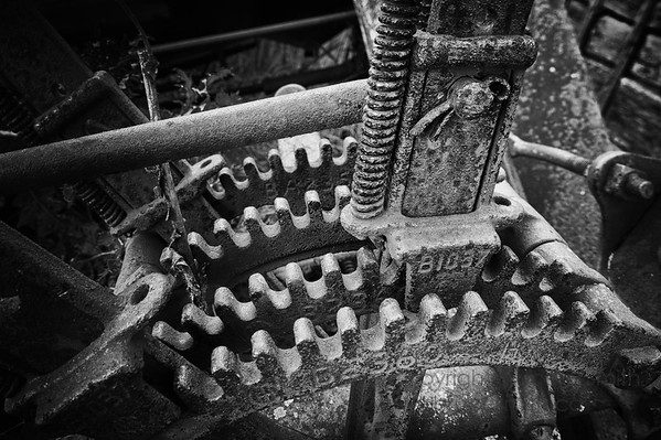Old farm machinery gears