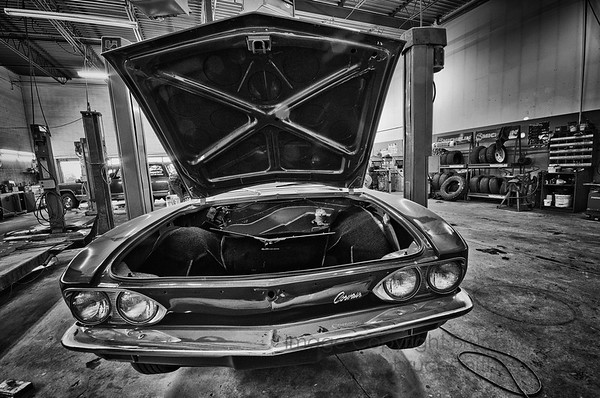 Corvair in the shop