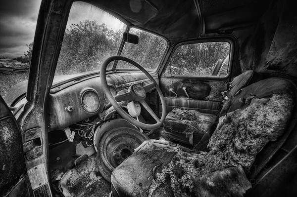 Old Chevrolet Panel Truck Interior