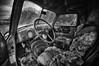 Old Chevrolet Panel Truck Interior