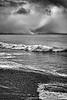 Moody Ocean Shore