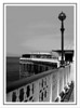 Llandudno pier<br /> Converted to B&W and posterized a little.
