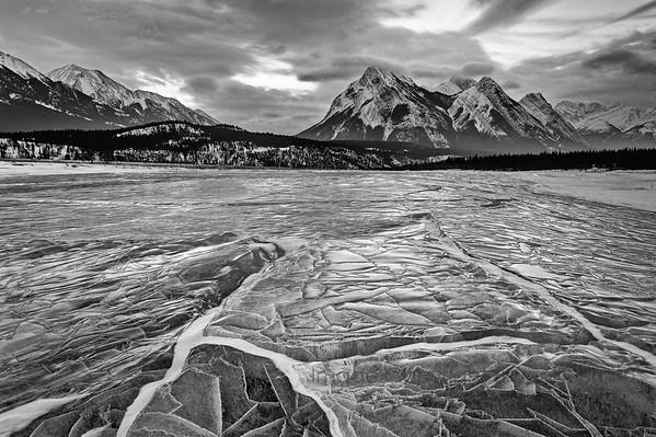 Abraham Lake Ice