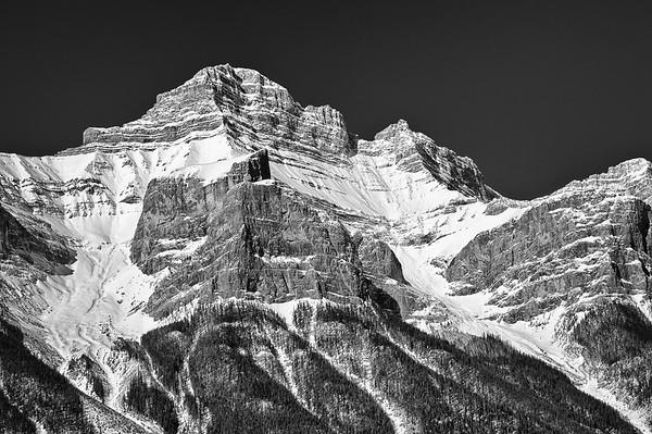 Snowy Rocky Mountain Peak