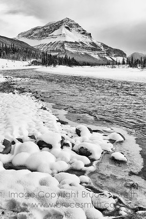 Sunwapta River and Tangle Ridge, Jasper National Park.