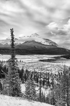 Rocky Mountain valley in early winter