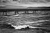 Windy ocean pier