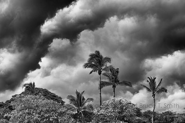 Threatening sky over Hawaii