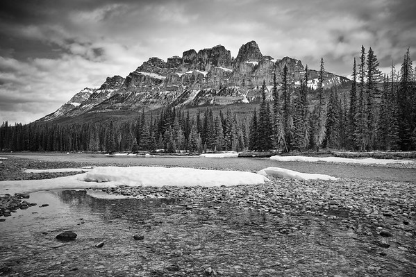 Castle Mountain, Banff National Park, in early spring