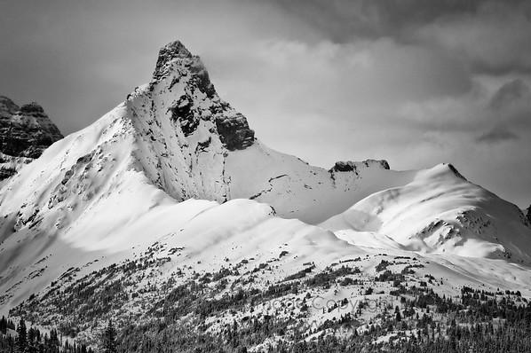 Rocky Mountain Peak in its winter glory