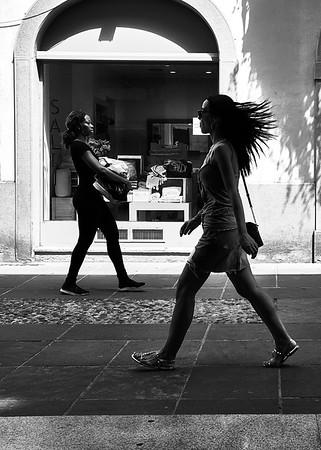 Streetlife in Bergamo