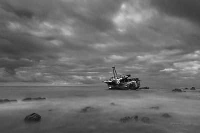 Shipwreck, A'gulas NP, WC, SA, Jan 2014-2