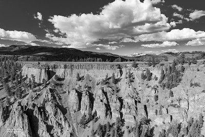 Tower Falls, Yellowstone NP, b&w, WY, USA May 2018-1