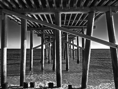 Malibu Pier using infrared film