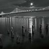San Francisco Bay Bridge & Moon
