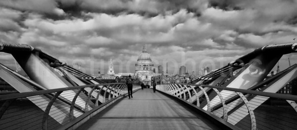 Millenium Bridge and St Paul's Cathedral, London