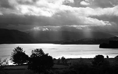 Loch Etive on a cludy day from North Connell.