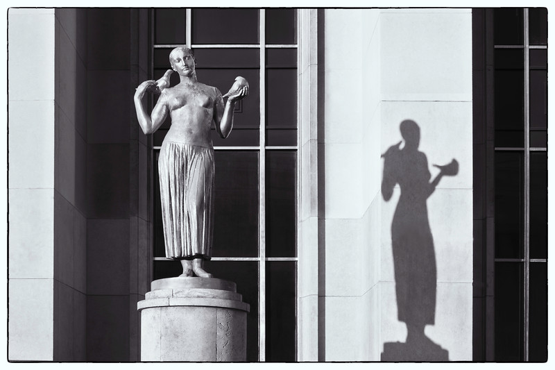 Statue and her shadow