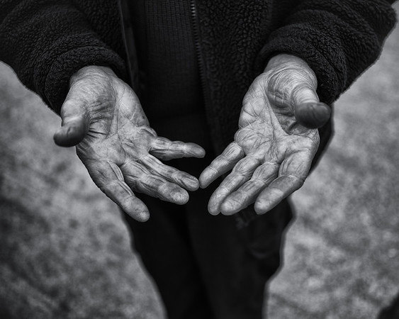 John the Land Rover's hands.