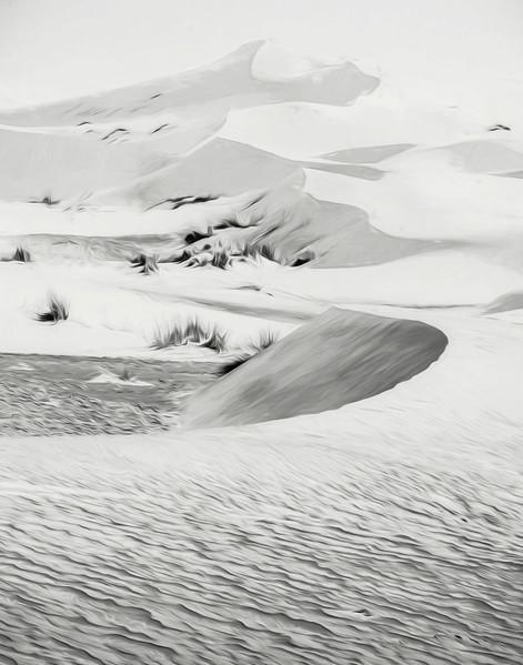 Swirly sand dunes