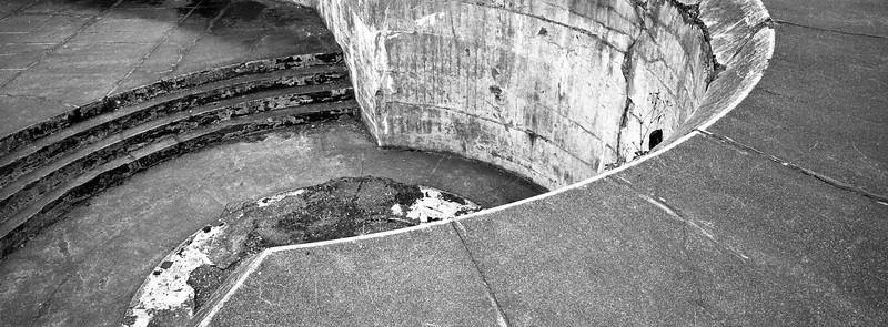 Nice Curves: an abstract view of a gun emplacement at Fort Casey State Park, Whidbey Island, Washington.