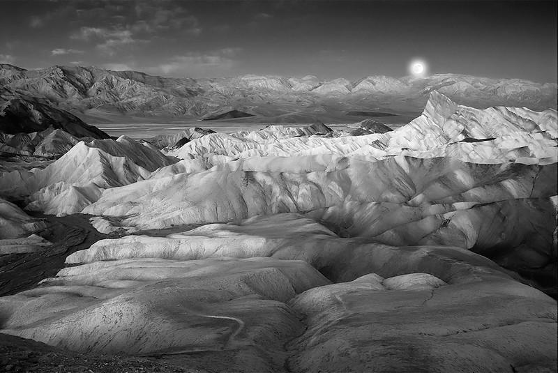 Moonset-Zabriski Point