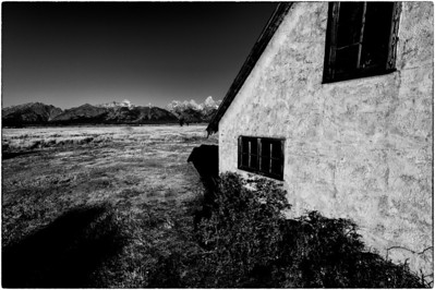 Moulton House and Tetons
