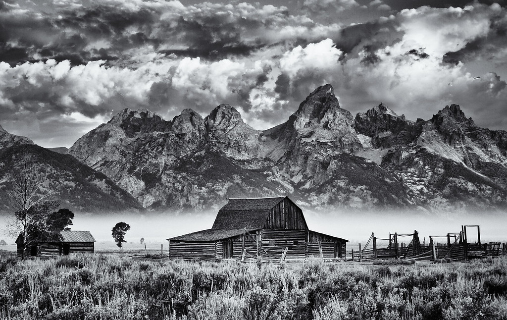 Historical Barn and the Grand Tetons
