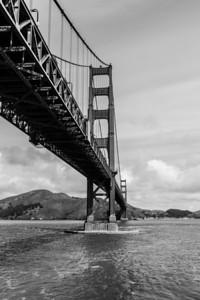 Golden Gate Bridge. Fort Point National Historic Site - San Francisco, CA, USA