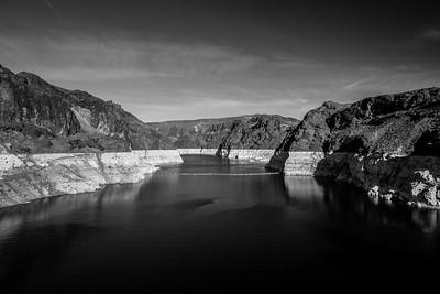 Lake Mead. Hoover Dam. Stateline of Nevada & Arizona. Lake Mead National Recreation Area - NV, AZ