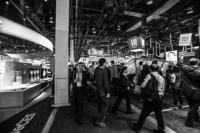 Intel Booth. Consumer Electronics Show (CES) 2018 - Las Vegas, NV, USA