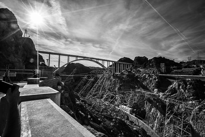 Mike O'Callaghan - Pat Tillman Memorial Bridge. Hoover Dam. Arizona Side. Lake Mead National Recreation Area - NV, AZ