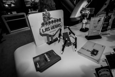 Lego DJI Drone. DJI Booth. Consumer Electronics Show (CES) 2018 - Las Vegas, NV, USA