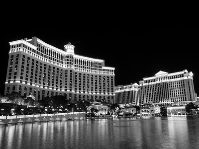 Fountains of Bellagio & Caesars Palace. South Las Vegas Blvd. Las Vegas, NV, USA