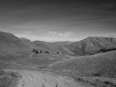 Rose Hill Cemetery (left). Black Diamond Trail. Black Diamond Mines Regional Preserve. Antioch, CA, USA