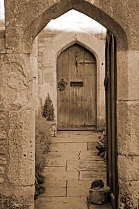 Old doorway, Wells, England