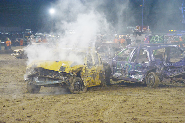 Monroe County Fair 2016 Demolition Derby