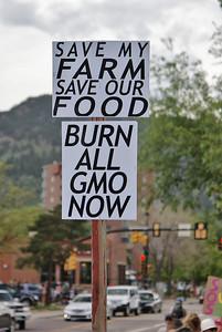 Save My Farm sign at anti-GMO