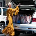 Laeticia Hallyday, Jade, Joy, Grandma Make Grocery Shopping.