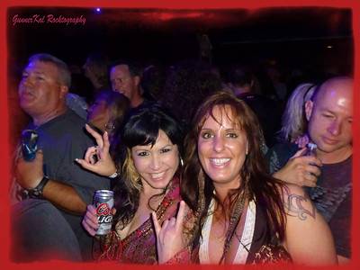 Rockin' friends at the MOR pre-party with Kix.