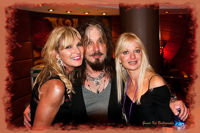 2 1/2 blondes (lol); Kim, John Corabi, and Pam.