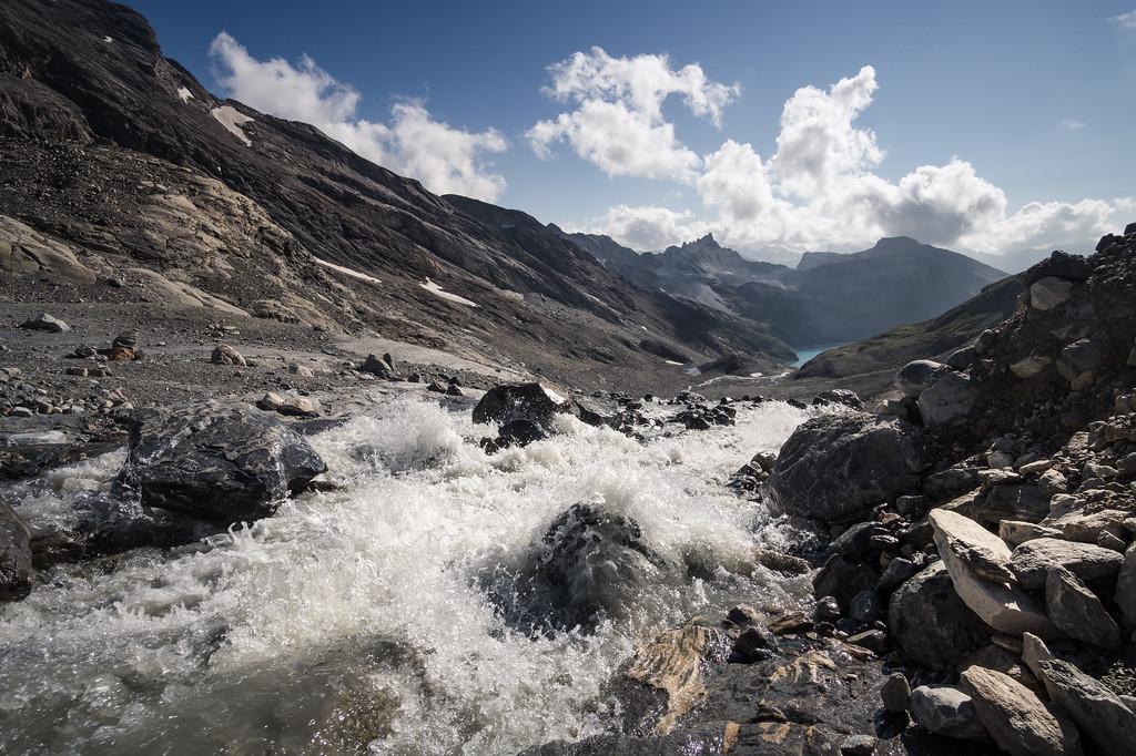 Torrente del glaciar