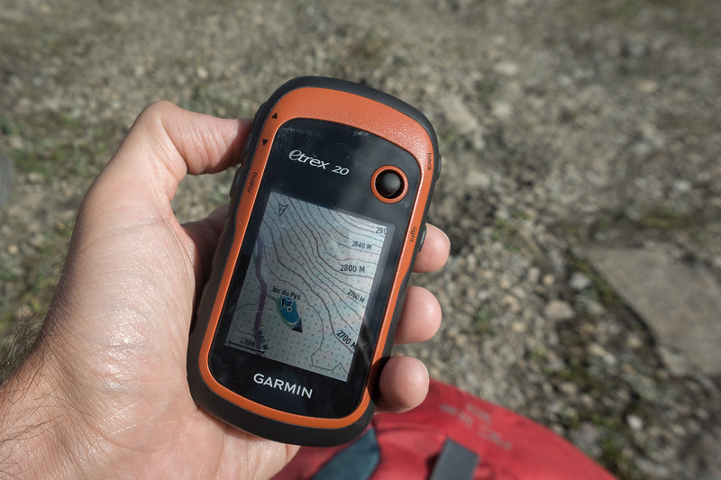 GPS sobre el terreno