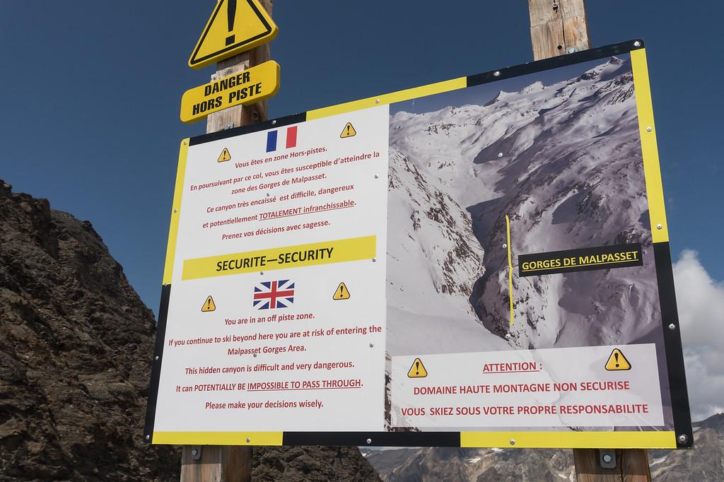 Señal de peligro freeride Col Pers