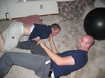 Aaron beating on Christian